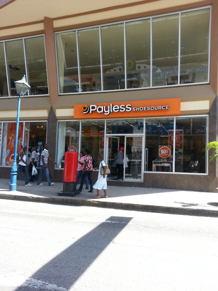 Payless Shoe Source. I saw I think four branches before I left.