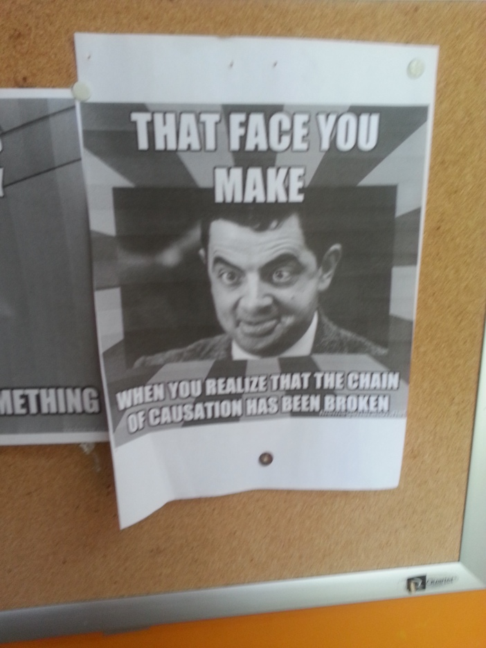Photo on my former Tort Lecturer's door. I laughed for a good five minutes.
