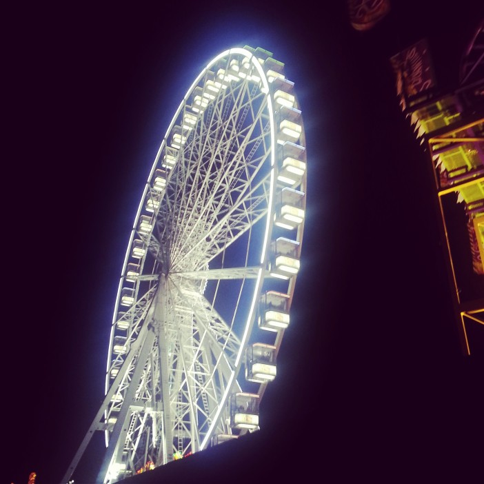 The wheel at Hyde Park's Winter Wonderland.