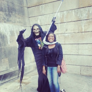 Just chilling with the Grim Reaper